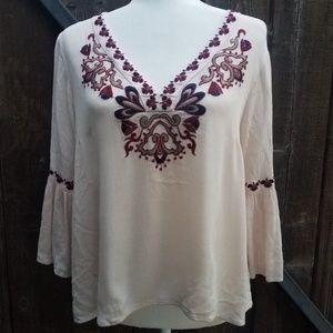 Entro Embroidered Blouse Size S